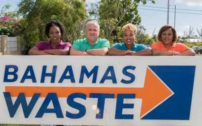 Female Employees Clean Up at Bahamas Waste