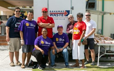 Rotary Burger Van Gets Facelift from Bahamas Waste