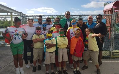 Bahamas Waste GM Takes Message of Neighborhood Heroism to Summit Academy Students